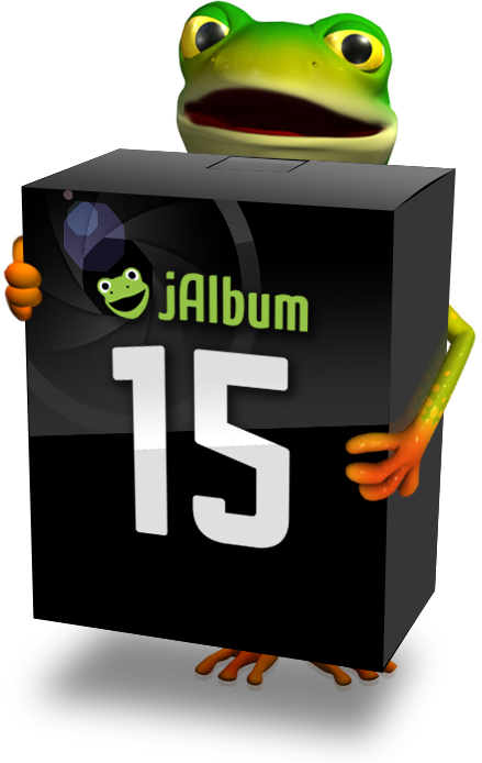 jAlbum 15's User Interface